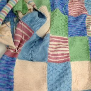 Knitting Patchwork Rug