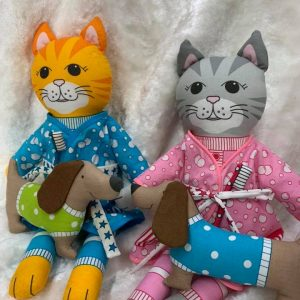 Quilt Panel Kitty & Milo