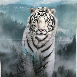 Quilt Panel White Tiger