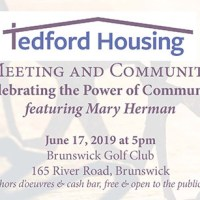 Tedford Housing Annual Meeting & Community Awards Featuring Mary Herman – June 17, 2019