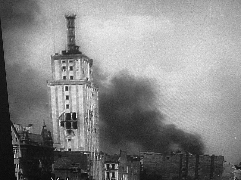 Warsaw during August 1944  anti-Nazi uprising.