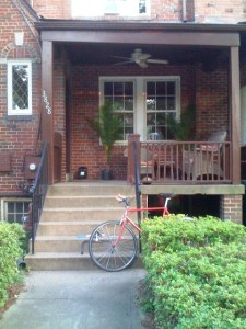 The house on Calvert Street, an aborted bike project...