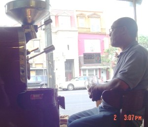 Roasting Sidamo coffee on H Street