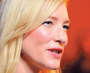 "Cate Blanchett is nominated for a Best Actress Oscar for her performance in Woody Allen's ""Blue Jasmine."""