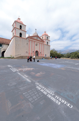 Space is ready for the I Madonnari Italian Street Painting Festival to begin today.STEVE MALONE/NEWS-PRESS PHOTOS