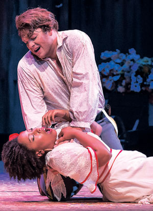 "Brianna Hunter as Carmen and Brett Payne as Don Jose star in the Music Academy of the West's production of ""Carmen"""