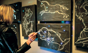 """As part of Santa Barbara Museum of Art's """"Moons, Mapping, Memory, and Fantastic Machines"""" visitors can create constellations against a musical backdrop.COURTESY PHOTO"""