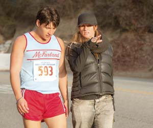 "Director Niki Caro on the set of ""McFarland, USA"""