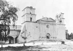 The Santa Barbara Mission's towers were left with severe damage.