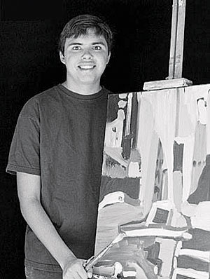 Kevin Hosseini, an 18-year-old Carpinteria artist, has two pieces on display at the Russian Museum in St. Petersburg, Russia. COURTESY PHOTO
