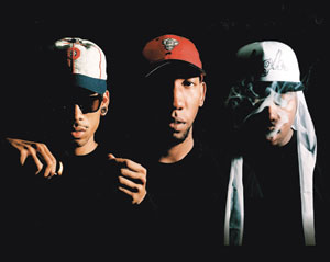 From left, Hodgy Beats, Left Brain, Domo Genesis comprise the hip-hop group Mellow High. Life or Death PR photo