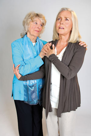 "Marion Freitag, left, and Ann Dusenberry in ""Unfinished Business."" Rod Lathim photo"