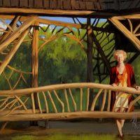Beth in Evening Light, Poet's-Walk Gate