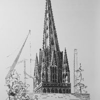Cathedral and construction, Albany NY