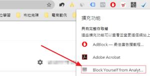 Block Yourself from Analytics 安裝後的位置