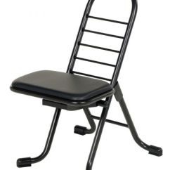 Ergonomic Folding Chair Swivel On Casters Sit Stand 14 X 9 1 2 26 Black Product Specs