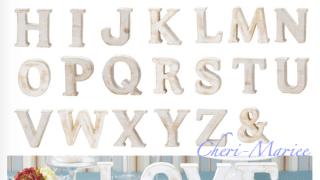 もう塗らなくてOK! 置くだけ簡単な木製アルファベットオブジェ