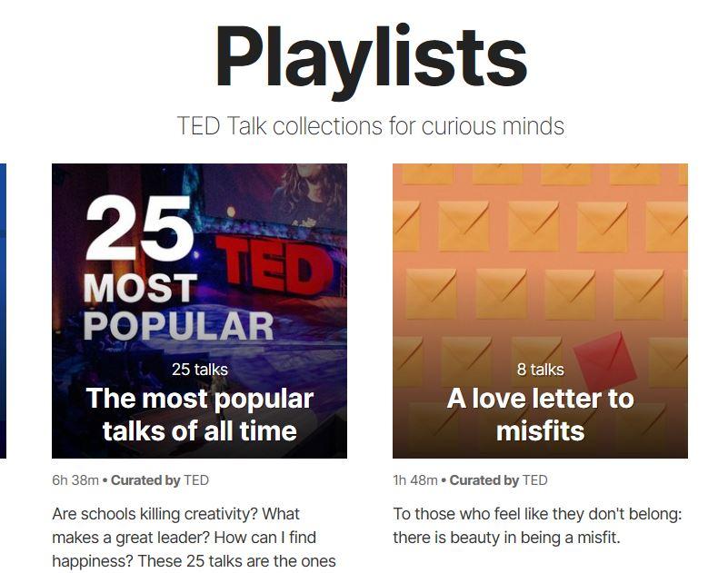 TED Playlists