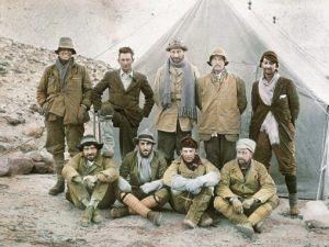 Mallory, Irvine (left, rear), 1924 Expedition