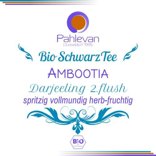 Bio Schwarzer Tee Darjeeling Ambootia second flush | spritzig vollmundig herb-fruchtig von Tee Pahlevan