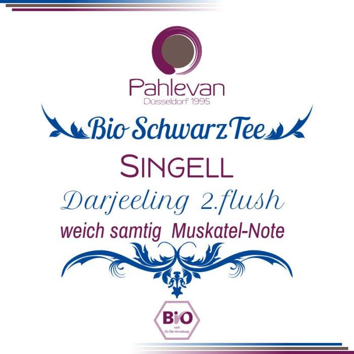 Bio Schwarzer Tee Darjeeling Singell second flush   weich samtig Muskatel-Note von Tee Pahlevan