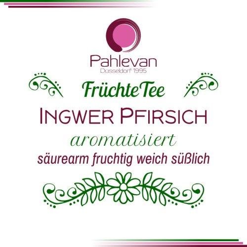 Früchtetee Ingwer Pfirsich | säurearm, fruchtig, weich, süßlich von Tee Pahlevan