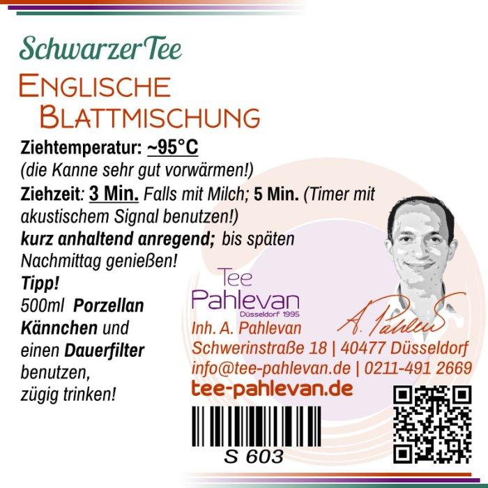 Schwarzer Tee, Englische Blattmischung | mittelkräftig vollmundig rund von Tee Pahlevan
