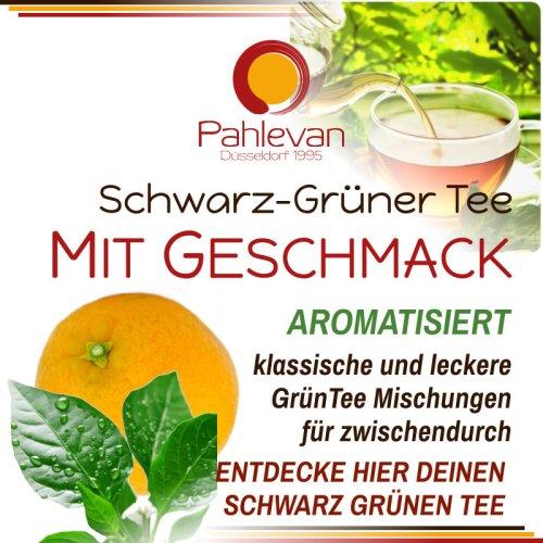 SCHWARZ-GRÜNER TEE MIT GESCHMACK