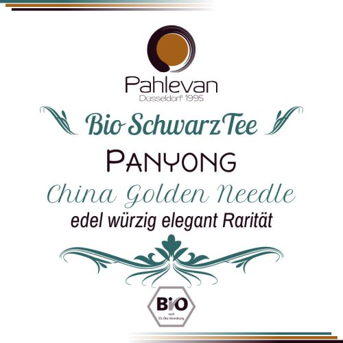 Bio Schwarzer Tee China Panyong   edel würzig elegant Rarität von Tee Pahlevan