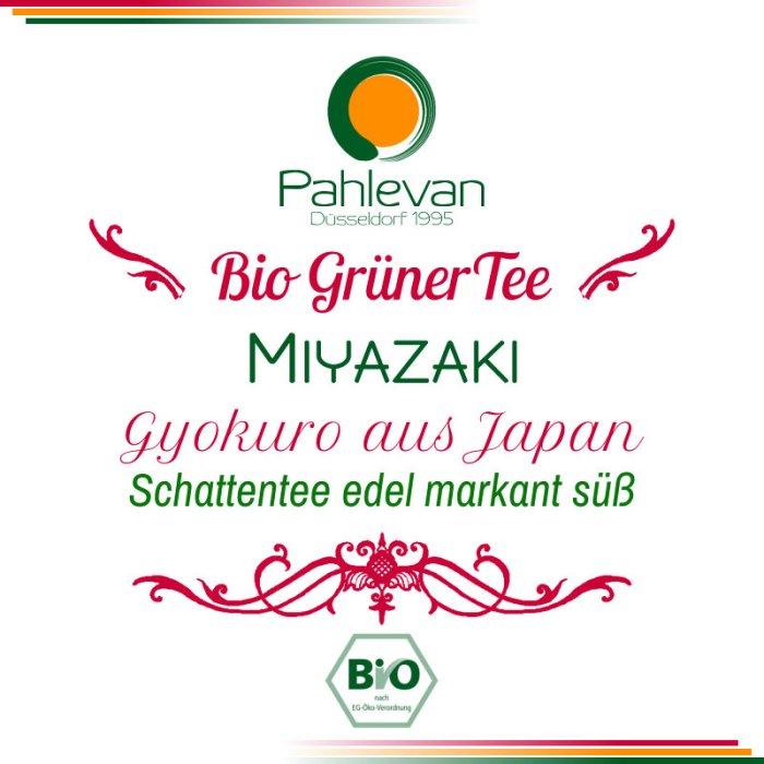 Bio Grüner Tee Gyokuro Miyazaki | aus Japan Schattentee edel markant süß von Tee Pahlevan
