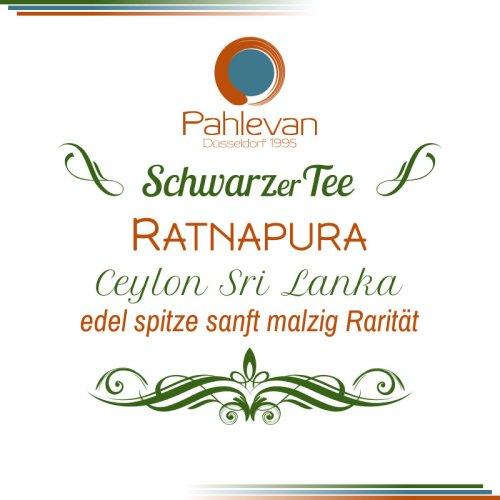 Schwarzer Tee Ceylon Ratnapura   edel spitze sanft malzig Rarität von Tee Pahlevan
