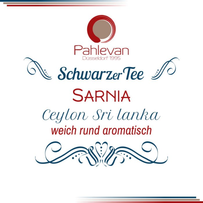 Schwarzer Tee Ceylon Sarnia   weich rund aromatisch von Tee Pahlevan