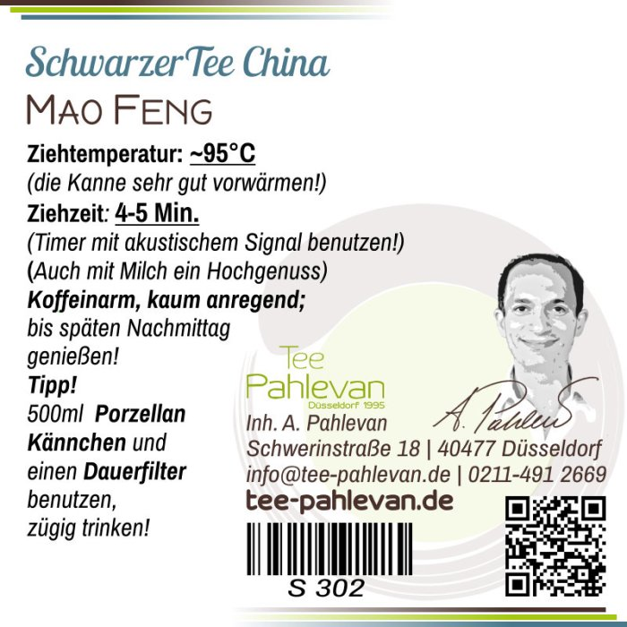 Schwarzer Tee China Keemun Mao Feng | edel kräftig bekömmlich Rarität von Tee Pahlevan