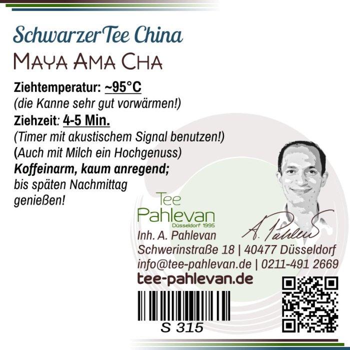 Schwarzer Tee China Maya Ama Cha |nussig kräftig süßlich Rarität von Tee Pahlevan