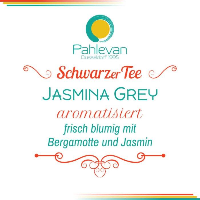 Schwarzer Tee Jasmina Grey | frisch blumig mit Jasmin Bergamotte von Tee Pahlevan