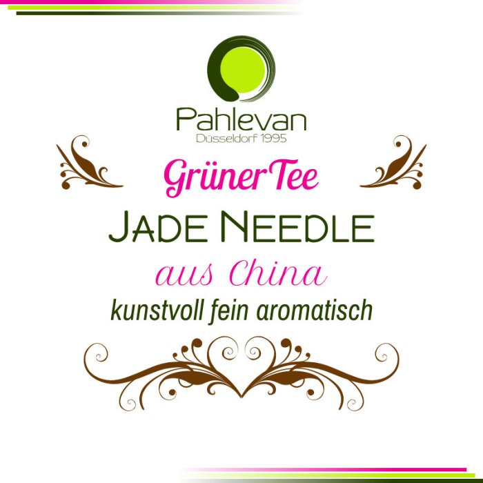 Grüner Tee Jade Needle   China kunstvoll fein aromatisch von Tee Pahlevan