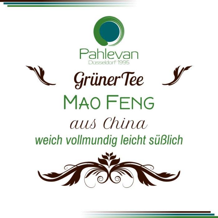 Grüner Tee Mao Feng | China weich vollmundig leicht süßlich von Tee Pahlevan