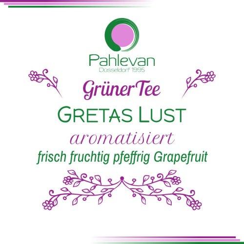 Grüner Tee Gretas Lust | frisch fruchtig pfeffrig Grapefruit von Tee Pahlevan