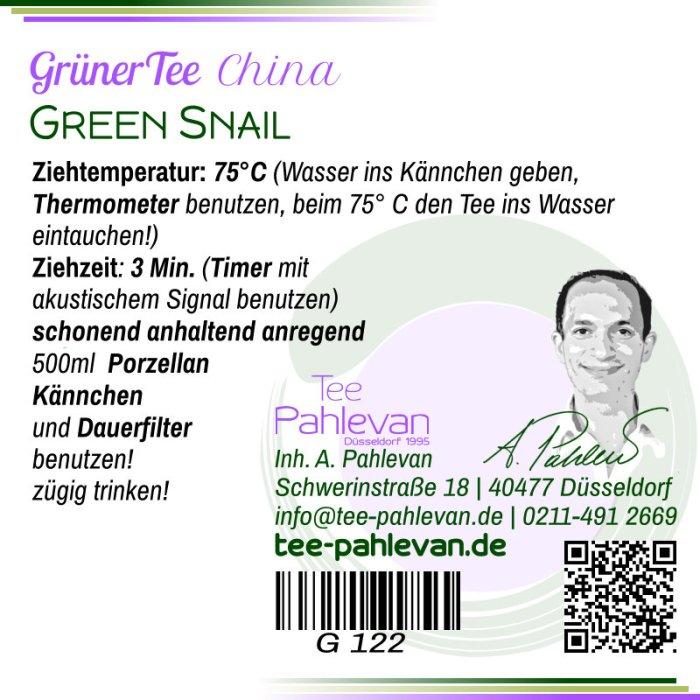 Grüner Tee Green Snail | 75°C, Ziehzeit 2-3 Minuten anregend von Tee Pahlevan