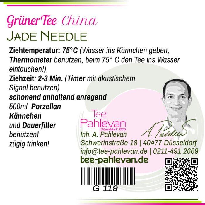 Grüner Tee Jade Needle   75°C, Ziehzeit 2-3 Minuten anregend von Tee Pahlevan