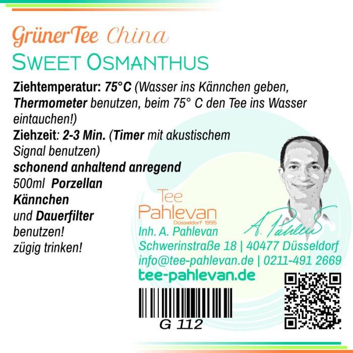 Grüner Tee Sweet Osmanthus   75°C, Ziehzeit 2-3 Minuten anregend von Tee Pahlevan