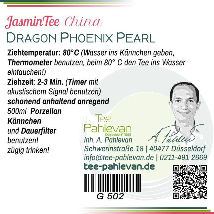 Jasmintee Dragon Phoenix Pearl | 80°C, Ziehzeit 2-3 Minuten anregend von Tee Pahlevan