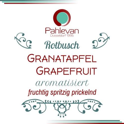 Rotbusch Tee Granatapfel Grapefruit | fruchtig spritzig prickelnd von Tee Pahlevan