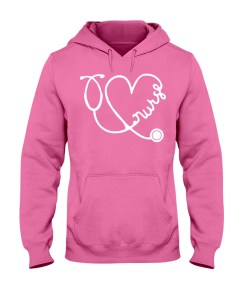 Nurse Heart Design Hoodie
