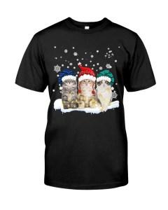Three Cat Christmas Classic T-Shirt