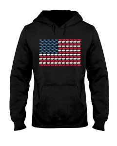 Ox American Flag Cattle Us 4Th Of July Oxen Bovine Hooded Sweatshirt