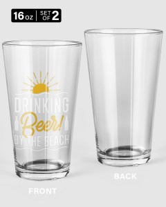 Drinking Beer Pint Glass