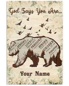 God Says You Are...Vertical Poster