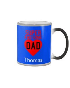 Super Awesome Dad Personalized Design Color Changing Mug
