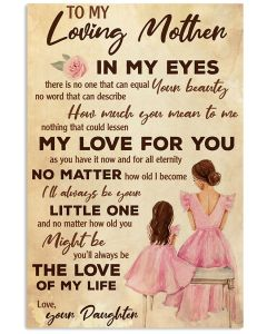 To My Loving Mother Vertical Poster